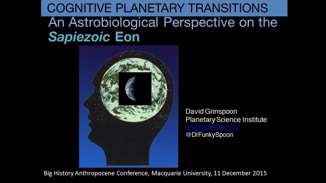 Big History Anthropocene Conference