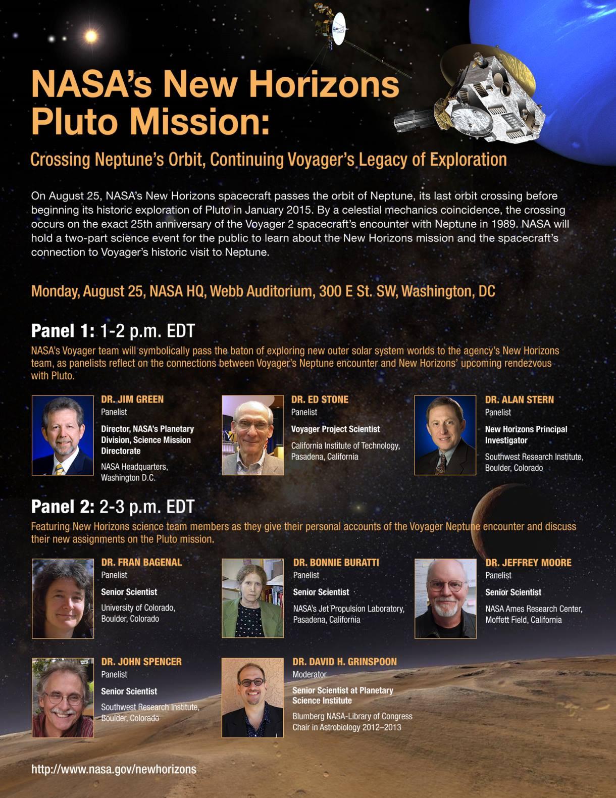 New Horizons Panel Event!